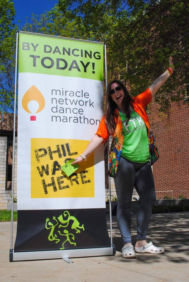 Miracle Network Dance Marathon sign