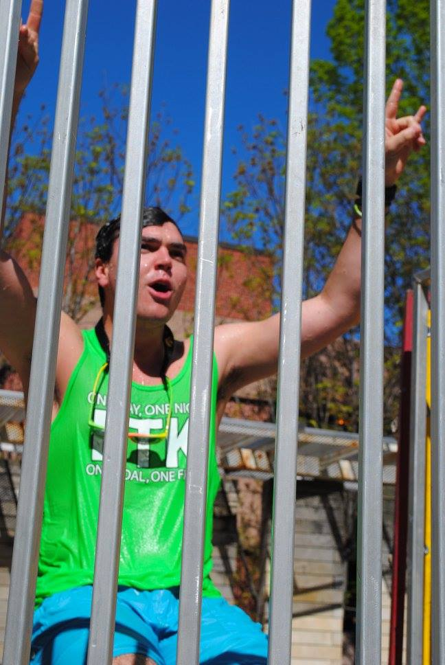 Taunting inside the dunk tank at UIOWA Dance Marathon Summer Sendoff 2016