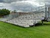 Temporary bleacher seating for 546 students delivered and setup within hours