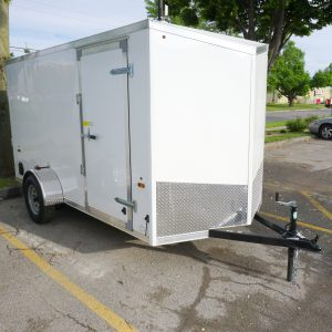 White 6'x12' enclosed cargo trailer Vin Number 2831