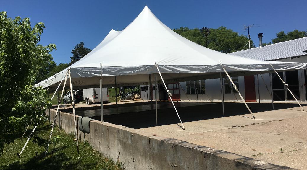 Tent/Outdoor Wedding Reception in Columbus Junction, Iowa