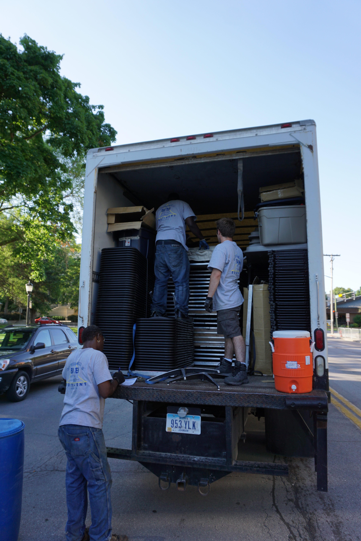 Big Ten Rentals Crew Guys Unloading A Truck At The 2016