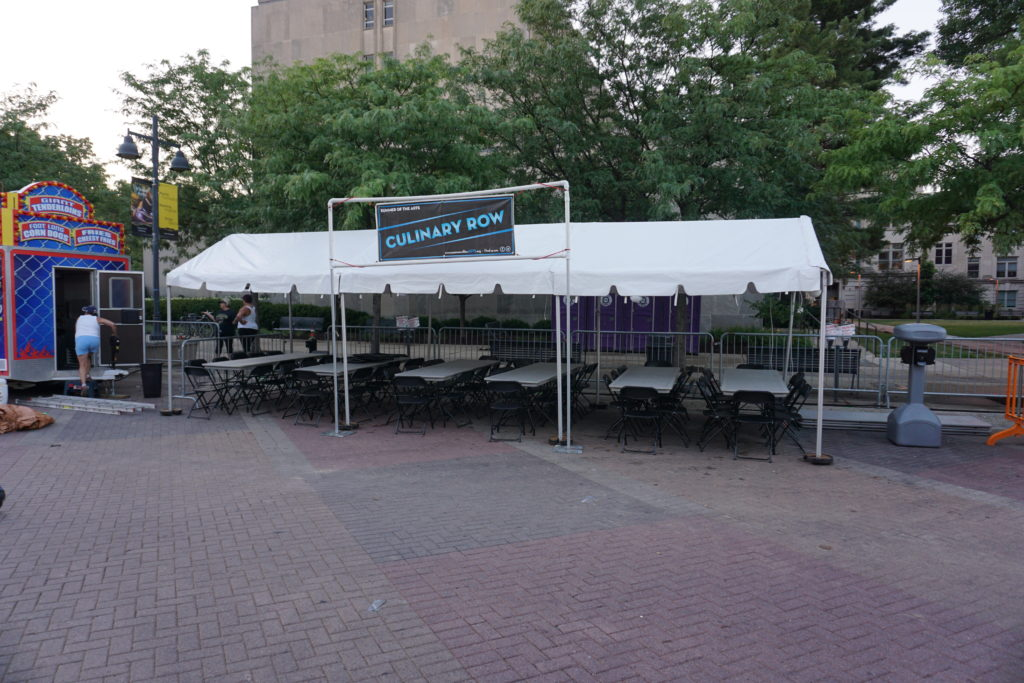 Culinary Row tent at Iowa Jazz Fest