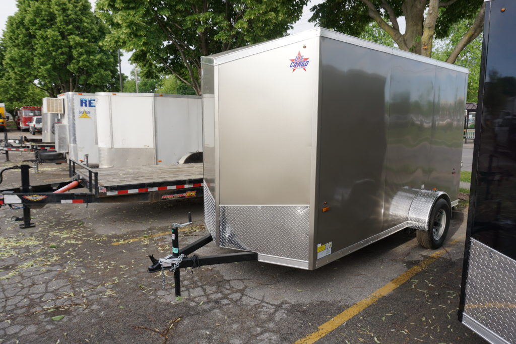 Left outside of pewter 6'x12' enclosed cargo trailer
