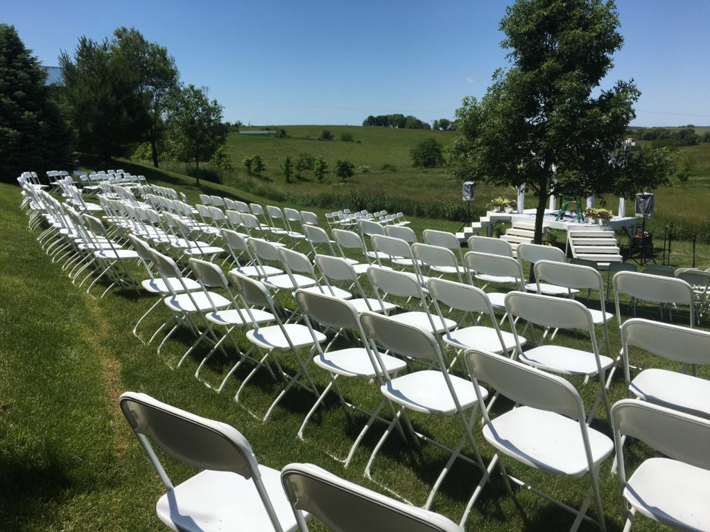 Outdoor Wedding With Chairs Amp Tents At HighPoint City Church
