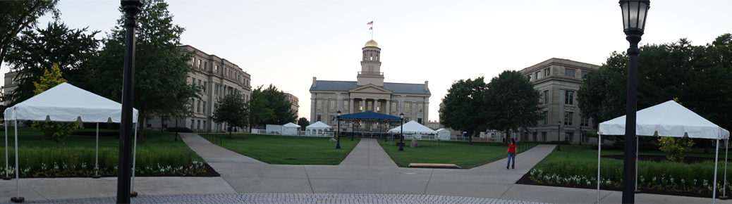 2016 Jazz festival setup in downtown Iowa City, IA