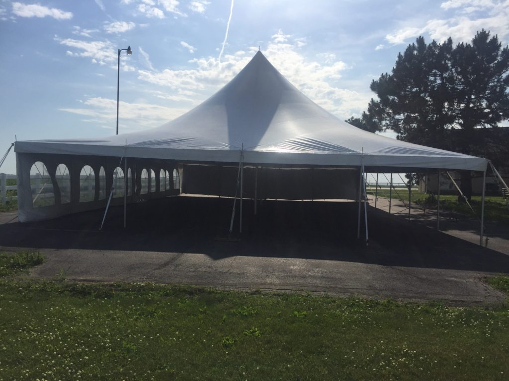 Outdoor Church Wedding Reception Tent In Grinnell Ia Rental