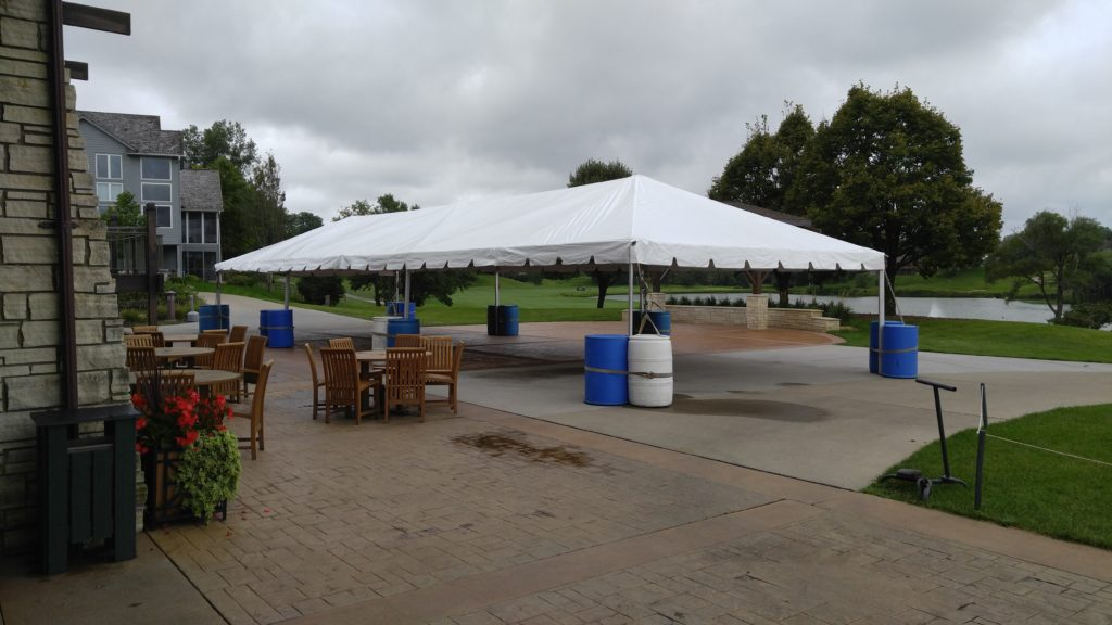 20' x 60' Frame tent at Brown Deer Golf Club