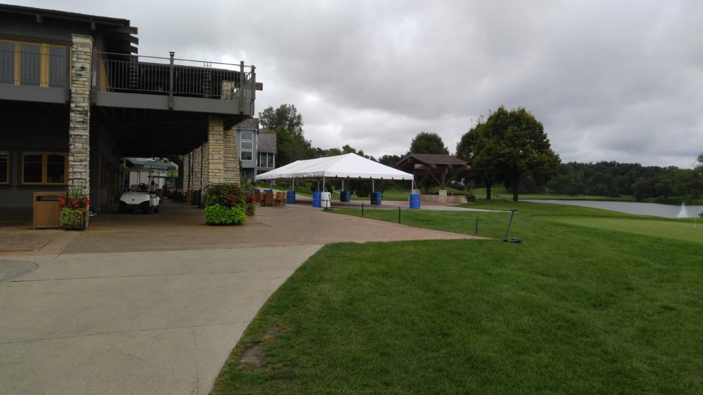 20' x 60' frame tent at Brown Deer Golf Club in Coralville