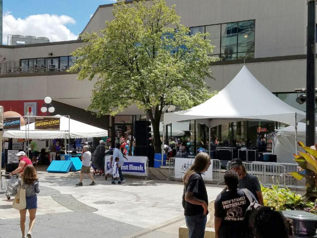 2016 Soul Fest in the pedestrian mall in Iowa City, IA