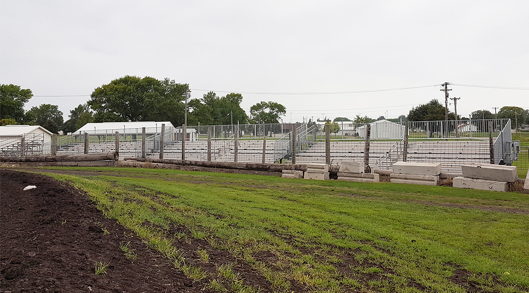Additional seating for Benton County Speedway in Vinton, IA