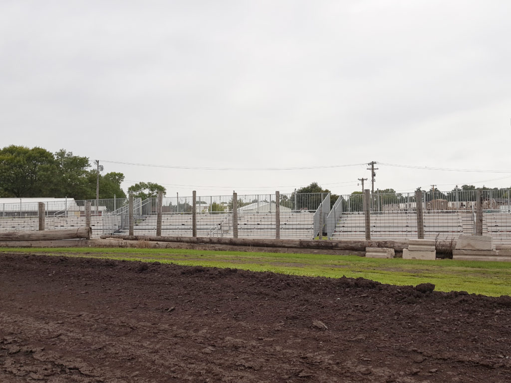 Additional seating with towable bleachers at Benton County Speedway in Vinton, IA