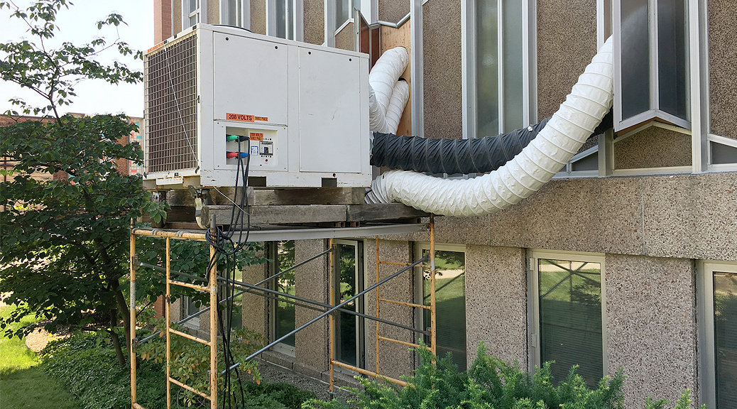 Rented 12-ton Air Conditioning unit