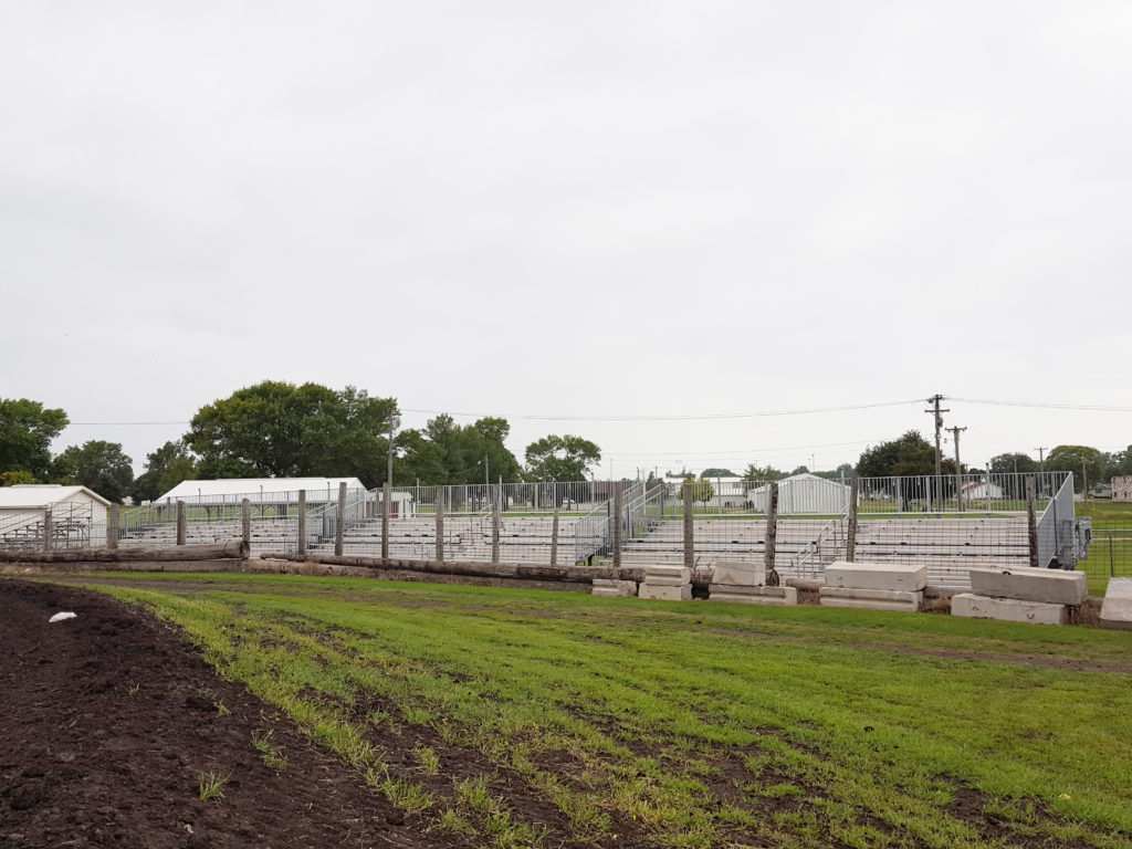 Towable bleachers at Benton County Speedway in Vinton, IA
