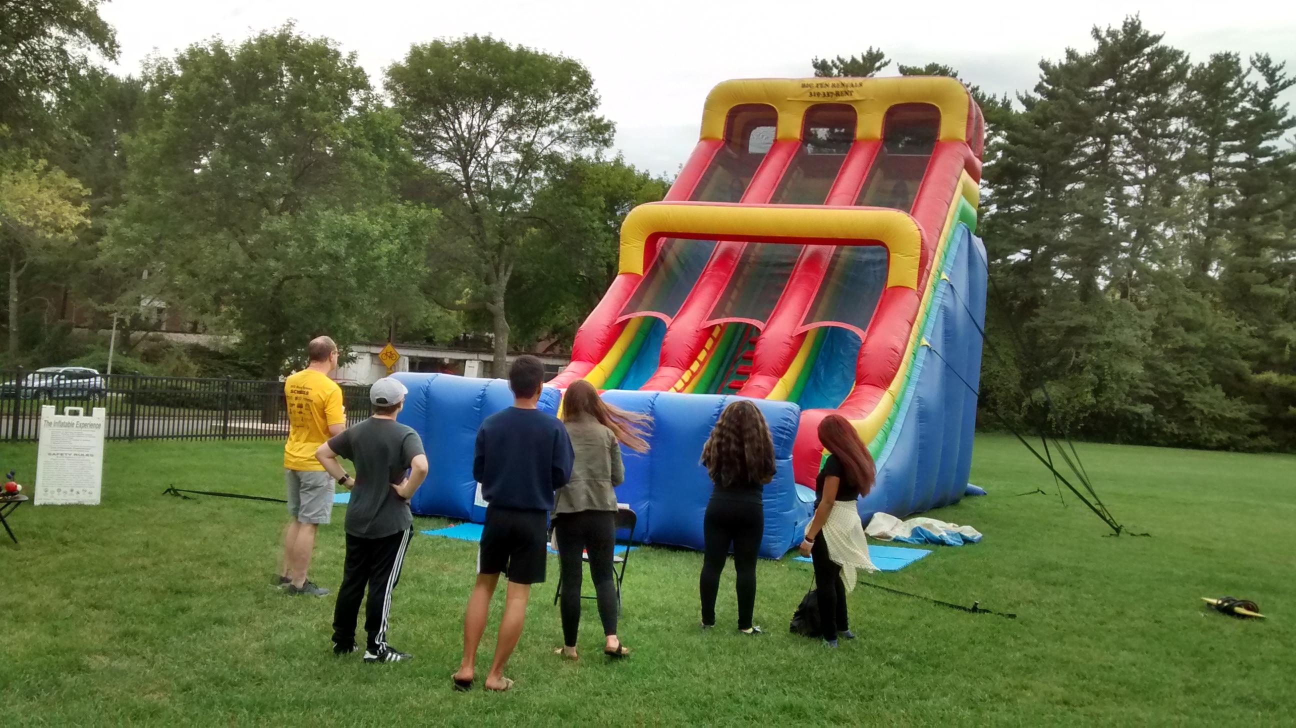24 Inflatable Slide At University Of Iowa Homecoming Week