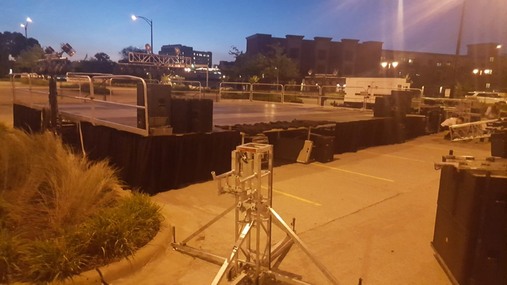 32' x 40' Stage at FRYfest at Iowa River Landing