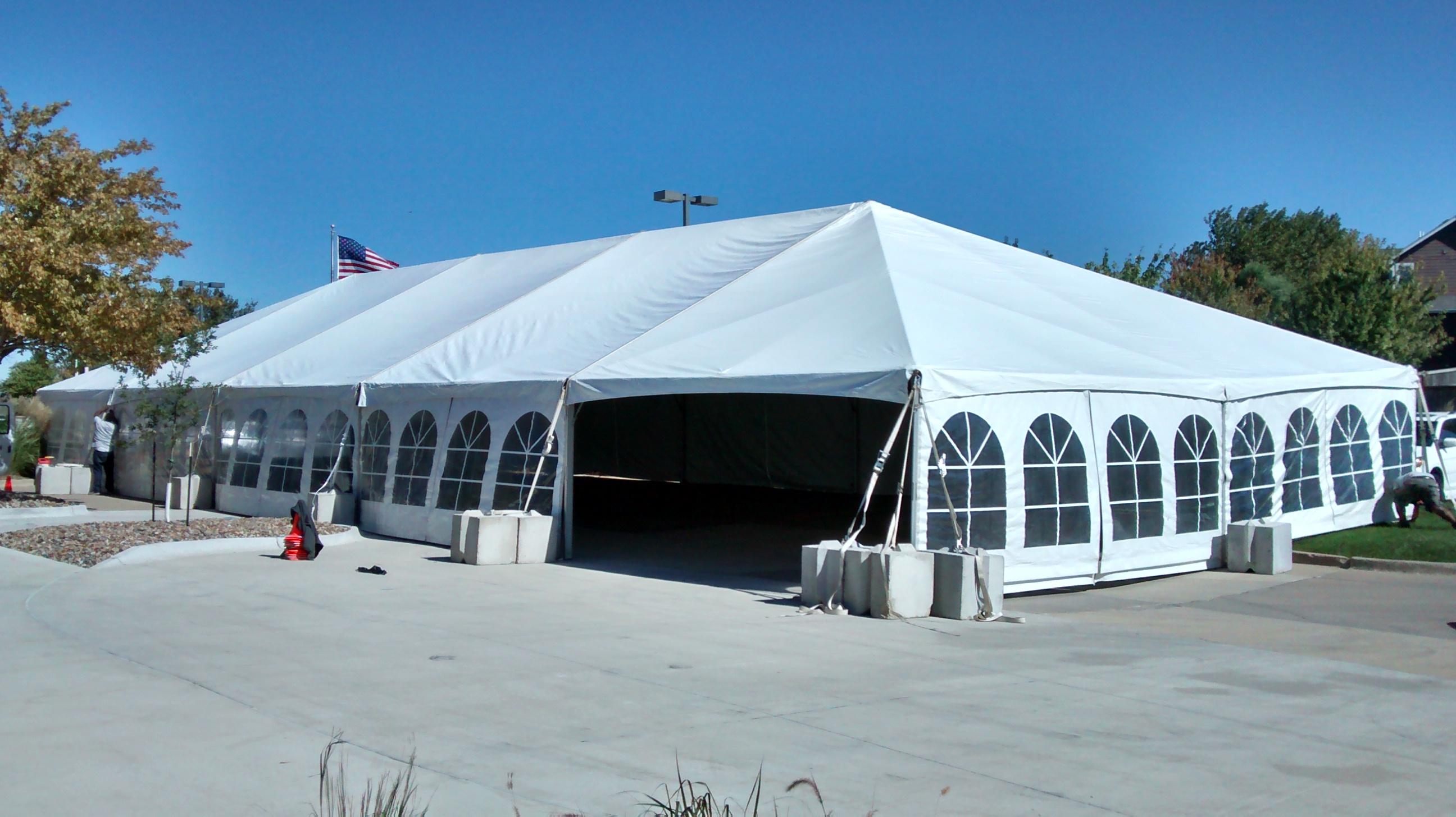 40 X 100 Hybrid Tent Setup In Ankeny Ia Iowa City