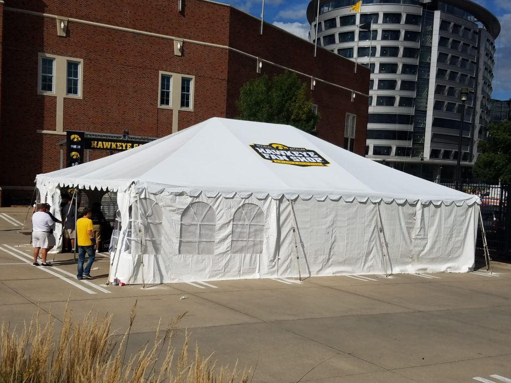 Congratulations to Hawkeye Fan Shop: A Black & Gold Store on their new branded tent!