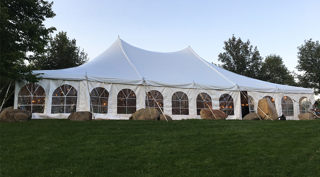 Outdoor tent wedding at Harvest Preserve 40u0027 x 60u0027 white rope and pole & Outdoor tent wedding at Harvest Preserve: 40u0027 x 60u0027 white rope ...