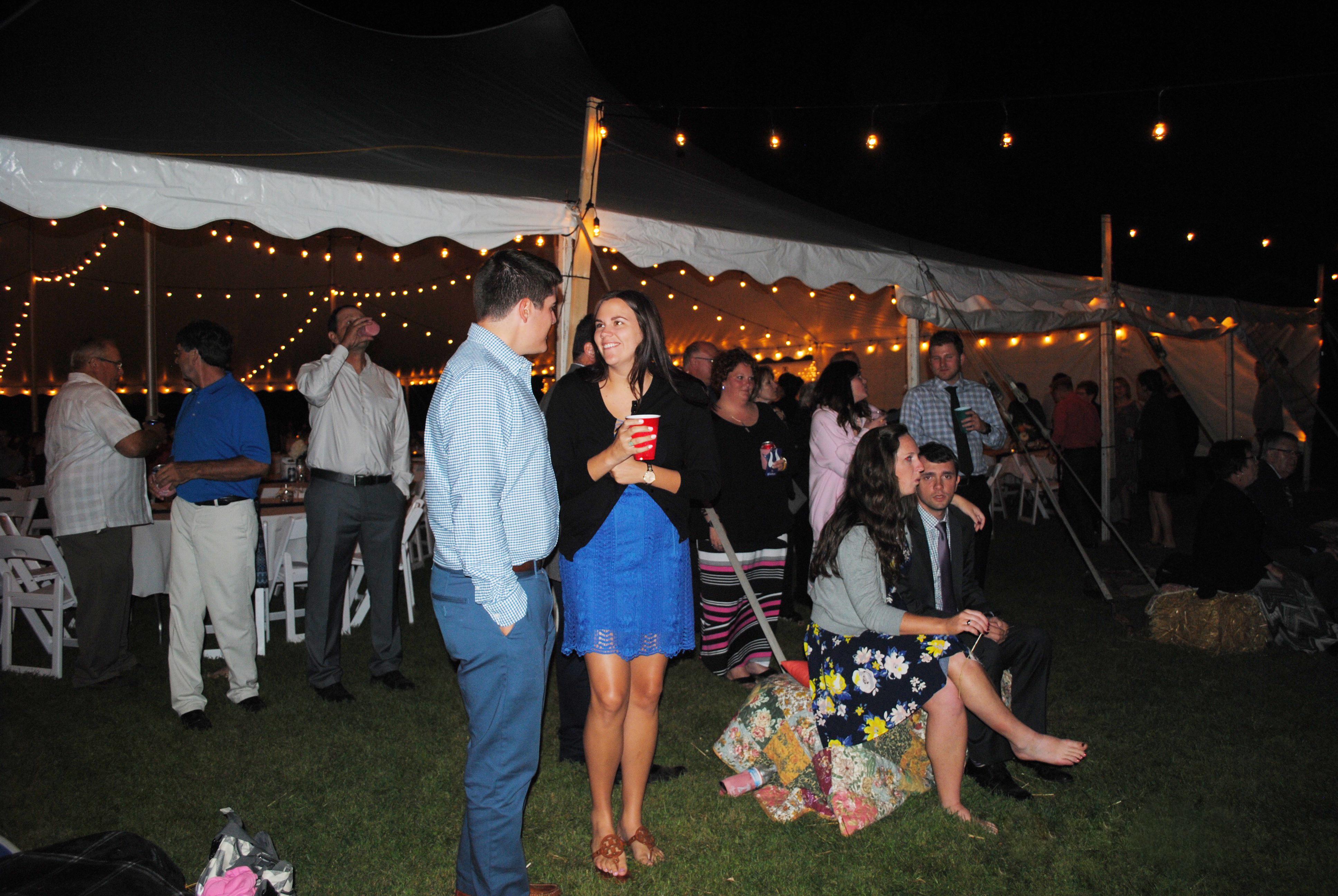 Outdoor Wedding Reception Under Tent In Protivin Iowa