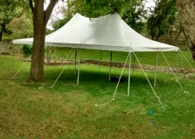 Backyard Party With A 20 X 30 Rope And Pole Tent In Iowa