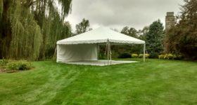 20′ x 20′ frame tent with Sub Floor in Iowa City, IA
