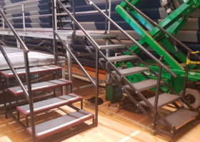 Staging stairs at Hillary Clinton political rally event