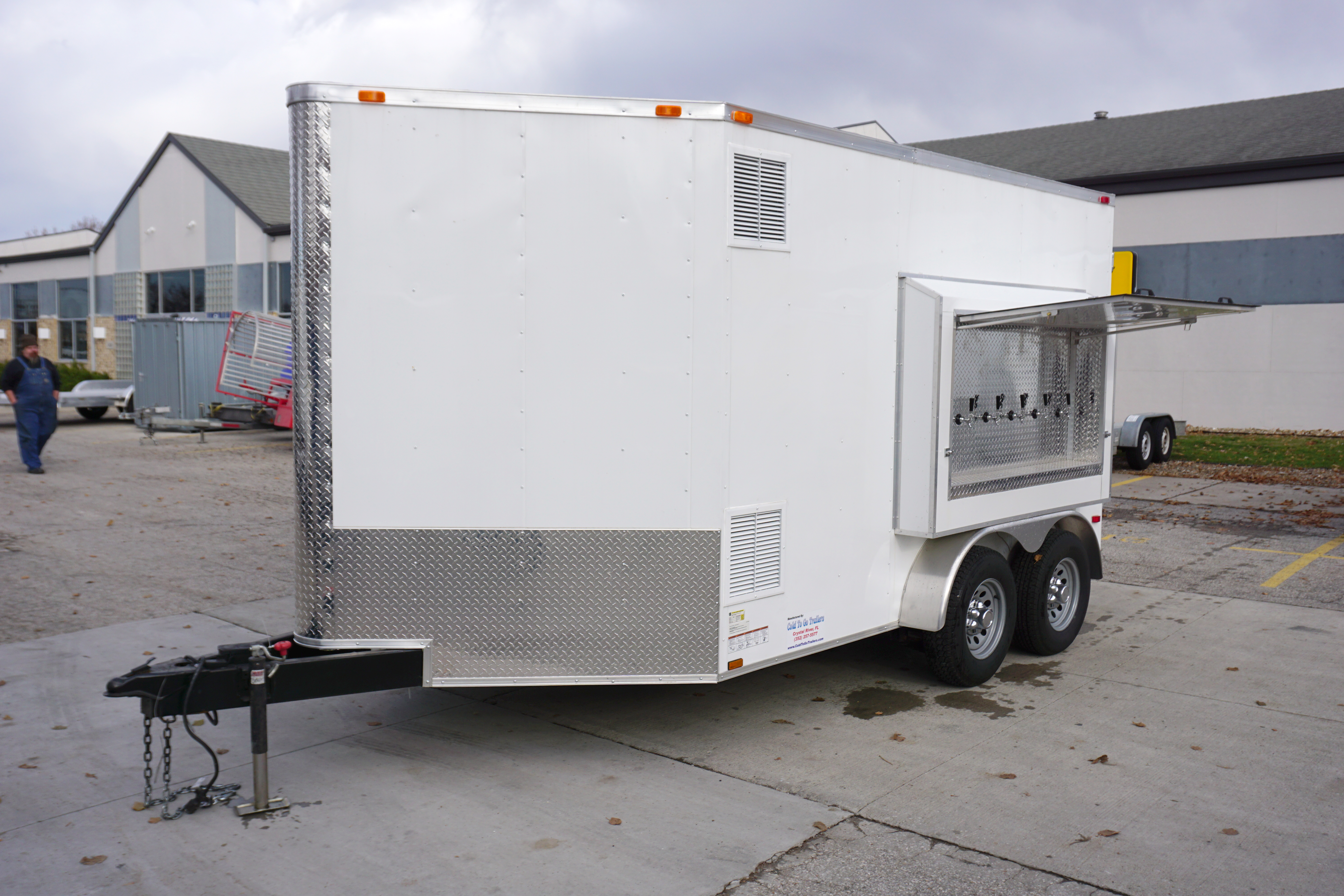 6 Tap 30 Keg Refrigerated Draft Beer Concession Trailer