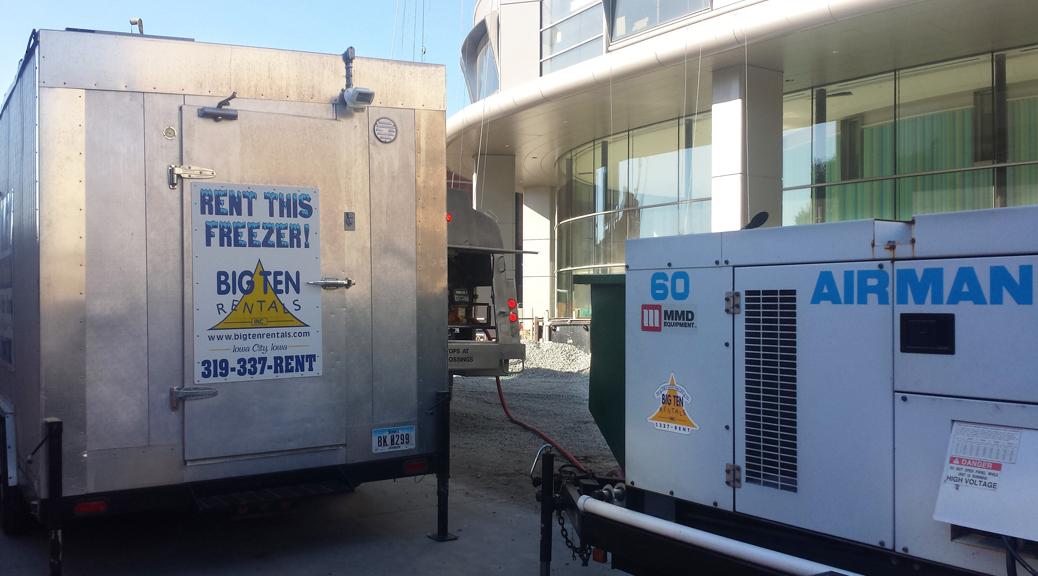 Walk-in Fridge, Walk-in Freezer and 60,000 kw Generator at the University of Iowa Children's Hospital