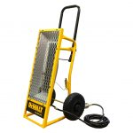 Side of the DeWALT DXH45LP Radiant Portable Heater for rent