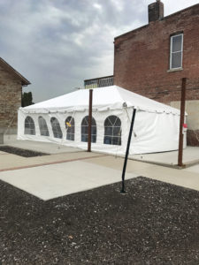 20' x 30' Wedding frame tent at the Palmer House in Solon, IA