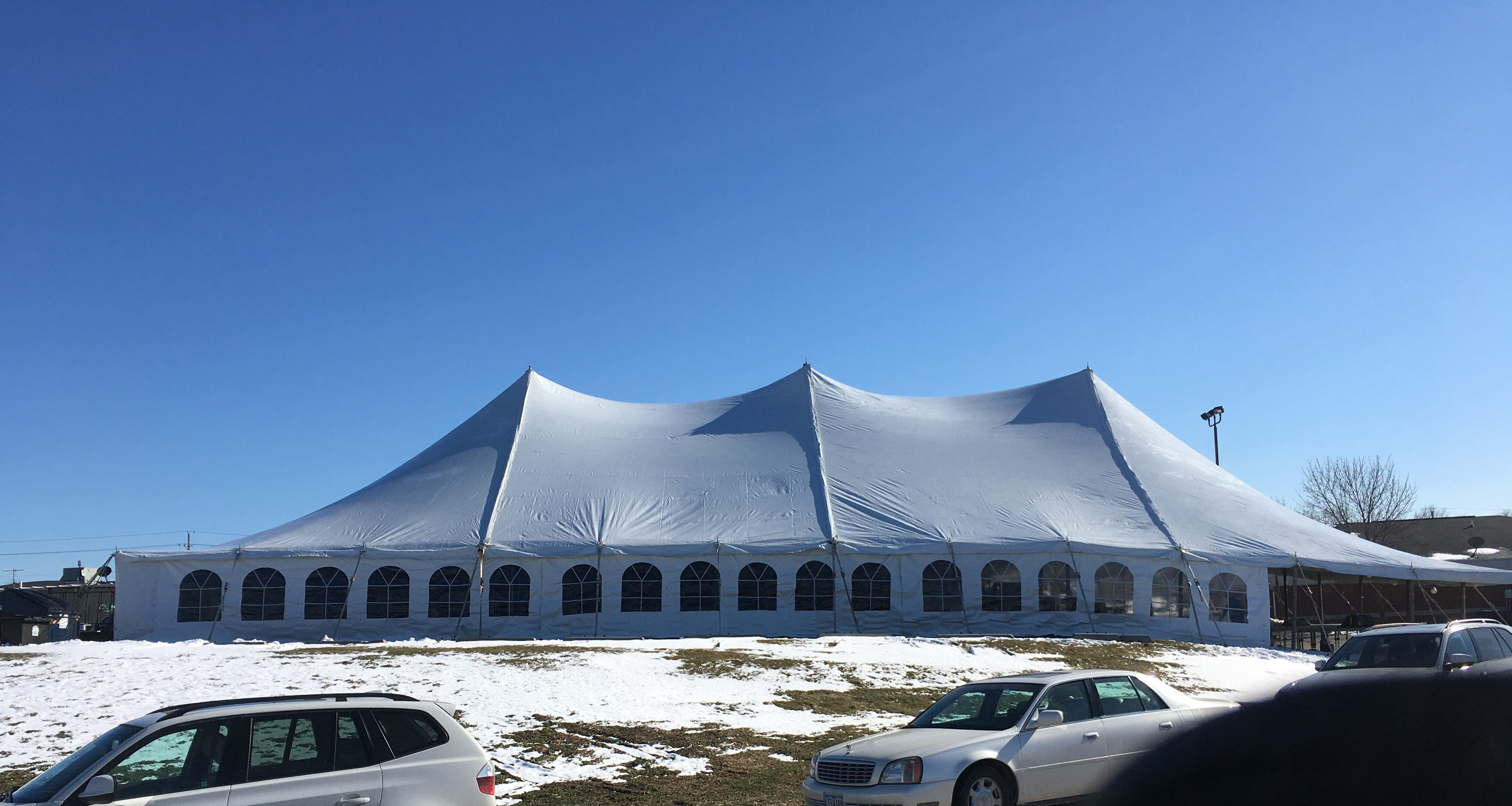 80ft X 120ft Rope& Pole Event Tent Rental In Iowa, Illinois, Missouri + Wisconsin