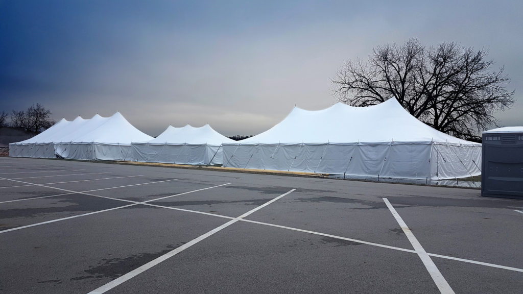 Event Tents at the Coralville Lake Reservoir