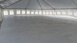 2,400 sq ft of sub floor under 40' x 60' tent