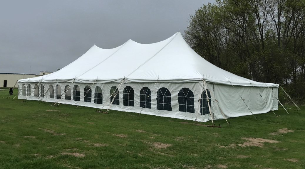 40 39 x 80 39 wedding tent at grace community church in north for Miroir 40 x 80