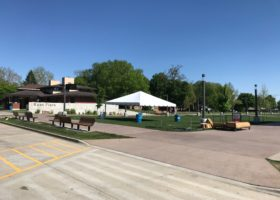 20′ x 20′ frame tent at JDRF One Walk in Des Moines 2017