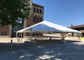 40′ x 40′ white event tent for Juvenile Diabetes Research Foundation One Walk in Des Moines 2017
