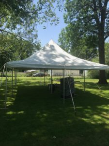 20' x 30' rope and pole tent for a Graduation party in East Moline, Illinois