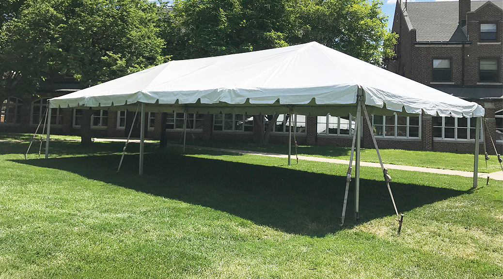 20 39 x 40 39 frame tent for an event at grinnell college in grinnell ia. Black Bedroom Furniture Sets. Home Design Ideas
