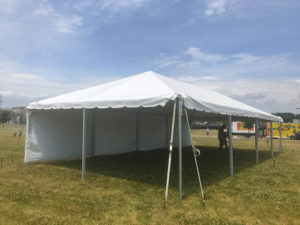 20' x 40' frame tent for The Muddy Fest in Davenport, Iowa