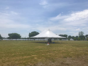 30' x 40' rope and pole tent for The Muddy Fest Motorcycle and Music event in Davenport, Iowa