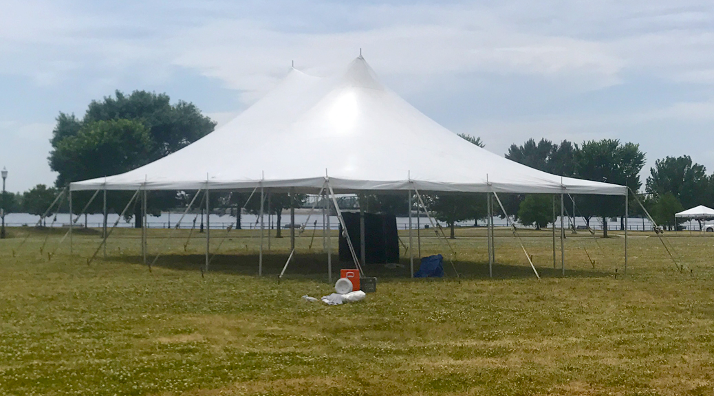 30' x 40' rope and pole tent for The Muddy Fest Motorcycle and Music event