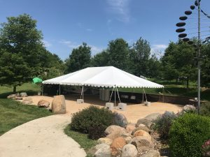 30' x 45' frame wedding tent at Harvest Preserve Iowa City, IA