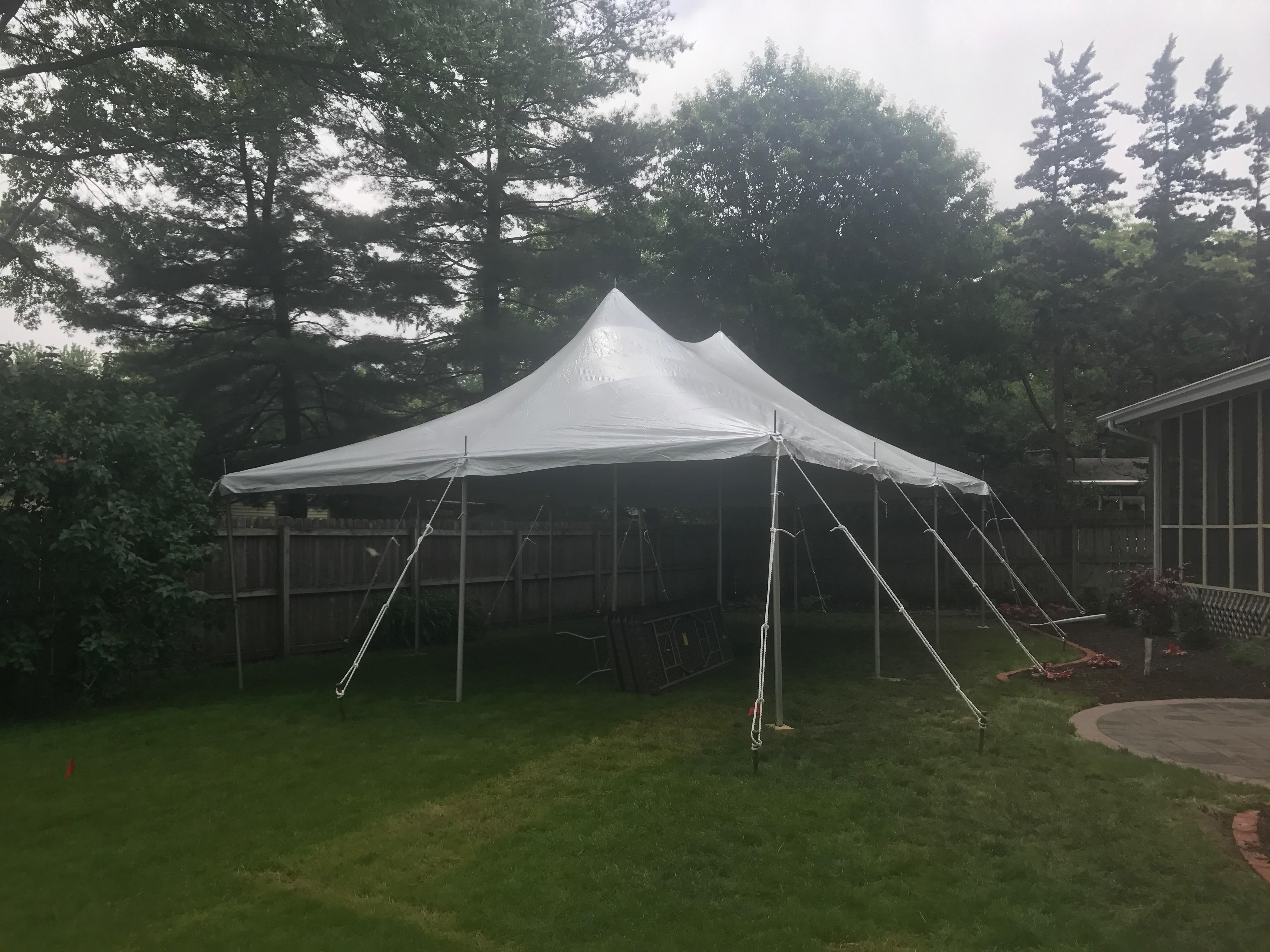 backyard graduation party with 20 u0027 x 30 u0027 and pole tent iowa