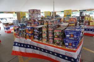 Fireworks at the Bellino Fireworks tent at Hy-Vee 1720 Waterfront Dr, Iowa City, IA 52240