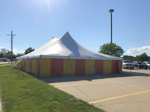 Fireworks stand at Fareway Grocery in Marion, Iowa for Bellino Fireworks