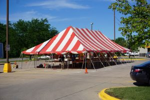 Fireworks tent at Fareway Grocery at Westwinds Dr in Iowa City, IA