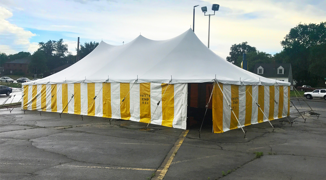 Fireworks tent in Cedar Rapids, Iowa