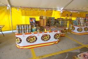 Fireworks under the TNT tent at Walmart in Iowa City