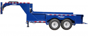 Gooseneck Tandem Axel Airtow Drop-Deck flatbed trailer for rent in Iowa